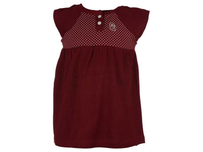 Oklahoma Sooners NCAA Toddler Girls Pin Dot Dress