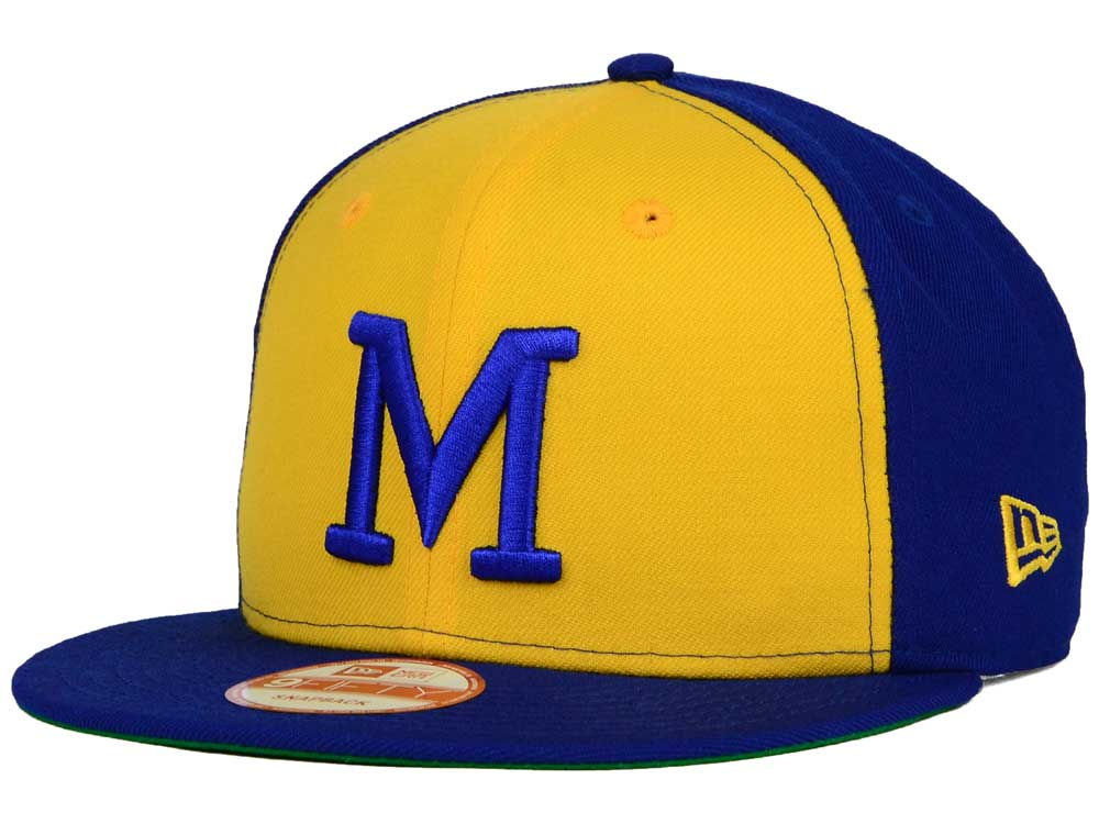 detailed look 962a3 1022f Milwaukee Brewers New Era MLB 2 Tone Link Cooperstown 9FIFTY Snapback Cap    lids.com