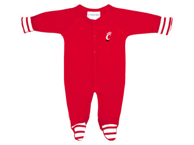 Cincinnati Bearcats NCAA Newborn Footed Stripe Creeper