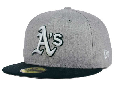 Oakland Athletics New Era MLB Heather Team Color 59FIFTY Cap