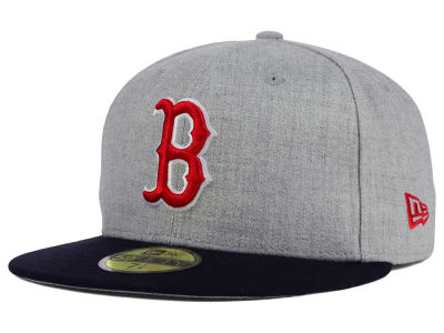 Boston Red Sox New Era MLB Heather Team Color 59FIFTY Cap