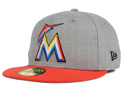 Miami Marlins New Era MLB Heather Team Color 59FIFTY Cap