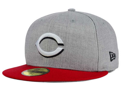 Cincinnati Reds New Era MLB Heather Team Color 59FIFTY Cap