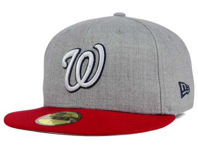 Washington Nationals New Era MLB Heather Team Color 59FIFTY Cap