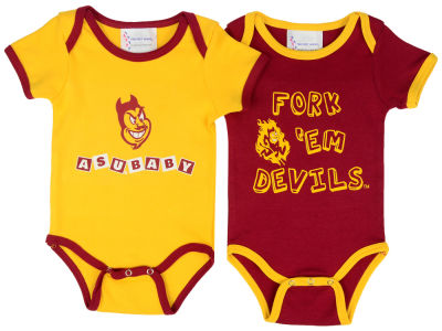 Arizona State Sun Devils NCAA Newborn 2 Pack Contrast Creeper