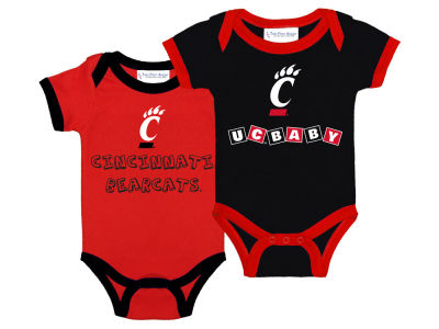 Cincinnati Bearcats NCAA Newborn 2 Pack Contrast Creeper