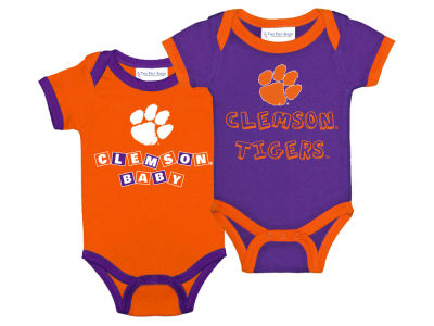 Clemson Tigers Atlanta Hosiery NCAA Newborn 2 Pack Contrast Creeper