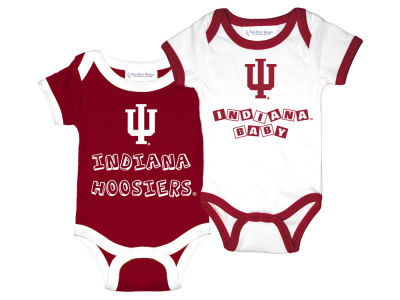 Indiana Hoosiers NCAA Newborn 2 Pack Contrast Creeper