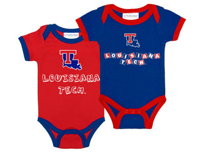 Louisiana Tech Bulldogs NCAA Newborn 2 Pack Contrast Creeper