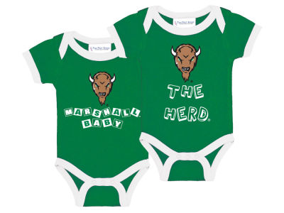 Marshall Thundering Herd NCAA Newborn 2 Pack Contrast Creeper