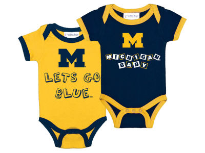 Michigan Wolverines NCAA Newborn 2 Pack Contrast Creeper