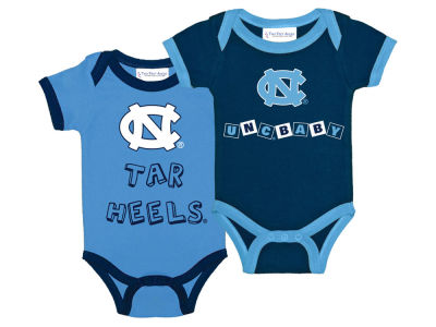 North Carolina Tar Heels NCAA Newborn 2 Pack Contrast Creeper