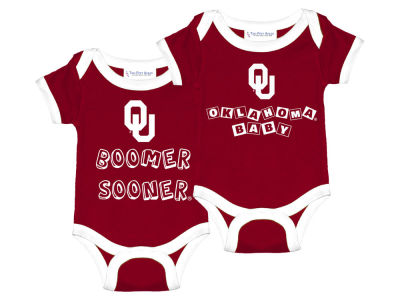 Oklahoma Sooners NCAA Newborn 2 Pack Contrast Creeper