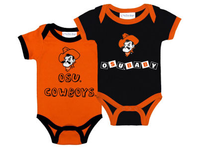 Oklahoma State Cowboys NCAA Newborn 2 Pack Contrast Creeper