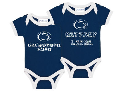 Penn State Nittany Lions NCAA Newborn 2 Pack Contrast Creeper