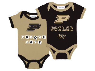 Purdue Boilermakers NCAA Newborn 2 Pack Contrast Creeper