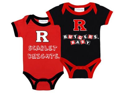 Rutgers Scarlet Knights NCAA Newborn 2 Pack Contrast Creeper