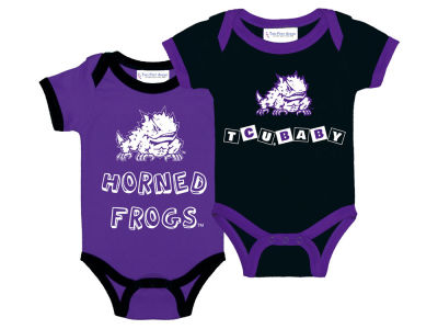 Texas Christian Horned Frogs NCAA Newborn 2 Pack Contrast Creeper