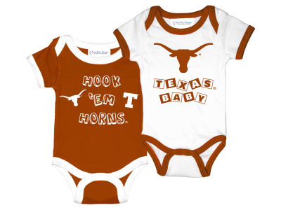 Texas Longhorns NCAA Newborn 2 Pack Contrast Creeper