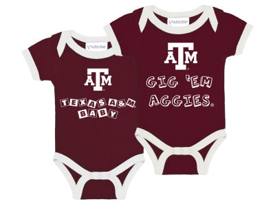 Texas A&M Aggies NCAA Newborn 2 Pack Contrast Creeper