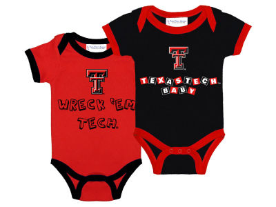 Texas Tech Red Raiders NCAA Newborn 2 Pack Contrast Creeper