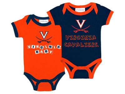 Virginia Cavaliers NCAA Newborn 2 Pack Contrast Creeper