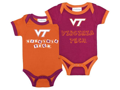 Virginia Tech Hokies NCAA Newborn 2 Pack Contrast Creeper