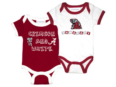 Alabama Crimson Tide NCAA Infant 2 Pack Contrast Creeper