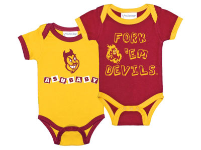 Arizona State Sun Devils NCAA Infant 2 Pack Contrast Creeper