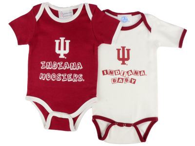 Indiana Hoosiers NCAA Infant 2 Pack Contrast Creeper