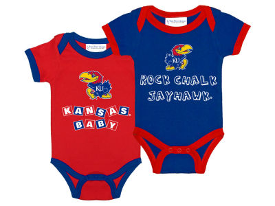Kansas Jayhawks NCAA Infant 2 Pack Contrast Creeper