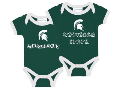Michigan State Spartans NCAA Infant 2 Pack Contrast Creeper