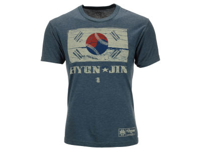 Los Angeles Dodgers Hyun-Jin Ryu MLB Men's Country Flag Player Issue T-Shirt