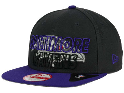 Baltimore Ravens New Era NFL Graph Outline 9FIFTY Snapback Cap