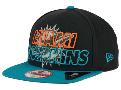 Miami Dolphins New Era NFL Graph Outline 9FIFTY Snapback Cap