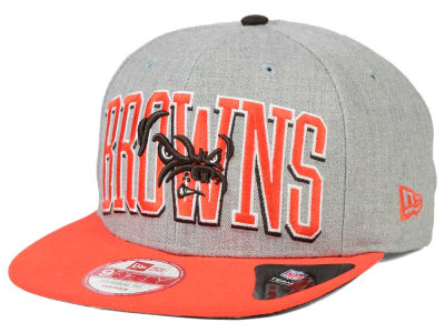 Cleveland Browns New Era NFL Heather Wordmark 9FIFTY Snapback Cap