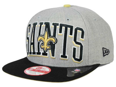 New Orleans Saints New Era NFL Heather Wordmark 9FIFTY Snapback Cap