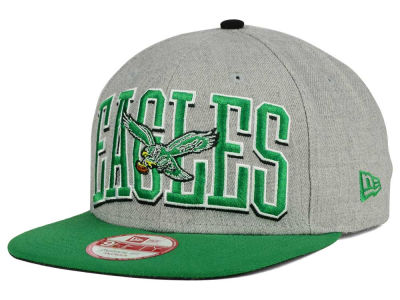 Philadelphia Eagles New Era NFL Heather Wordmark 9FIFTY Snapback Cap