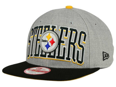 Pittsburgh Steelers New Era NFL Heather Wordmark 9FIFTY Snapback Cap