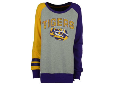 LSU Tigers adidas NCAA Youth Girls Amethyst Crew Fleece Sweatshirt