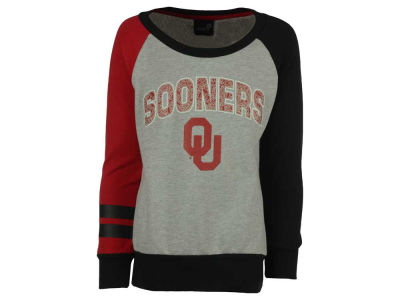 Oklahoma Sooners adidas NCAA Youth Girls Amethyst Crew Fleece Sweatshirt