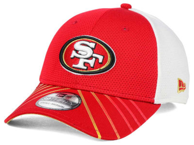 San Francisco 49ers New Era NFL Fade Back Mesh 39THIRTY Cap