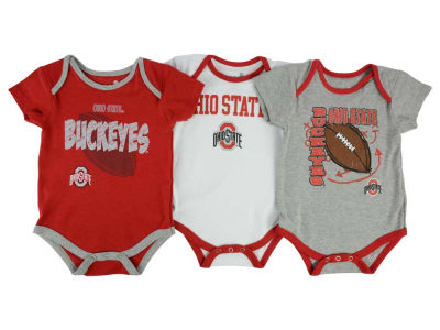 Ohio State Buckeyes adidas NCAA Newborn 3 Points 3-Piece Creeper Set