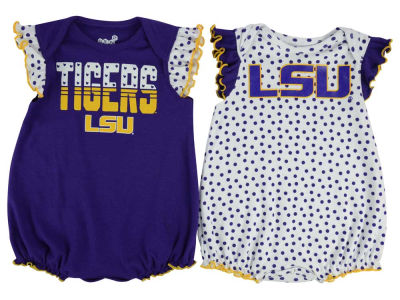 LSU Tigers adidas NCAA Newborn Girls Polka Fan Set