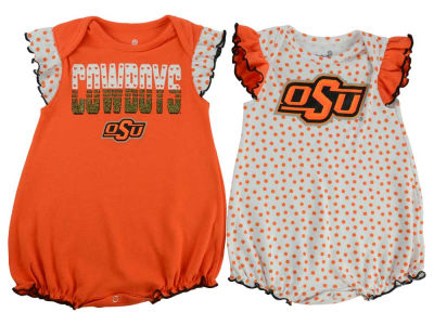Oklahoma State Cowboys adidas NCAA Newborn Girls Polka Fan Set