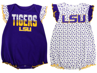 LSU Tigers adidas NCAA Infant Girls Polka Dot Fan Set