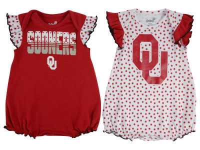 Oklahoma Sooners adidas NCAA Infant Girls Polka Dot Fan Set