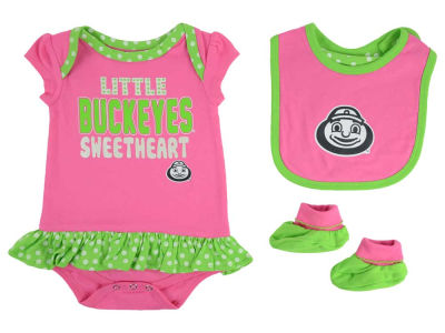 Ohio State Buckeyes adidas NCAA Newborn Girls Pink Little Sweet Set