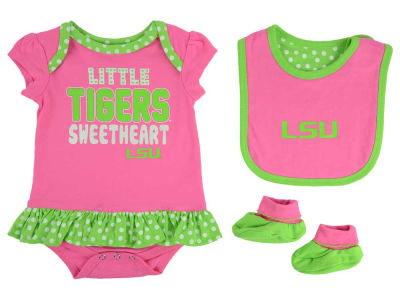 LSU Tigers adidas NCAA Newborn Girls Pink Little Sweet Set