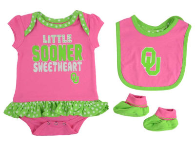 Oklahoma Sooners adidas NCAA Newborn Girls Pink Little Sweet Set